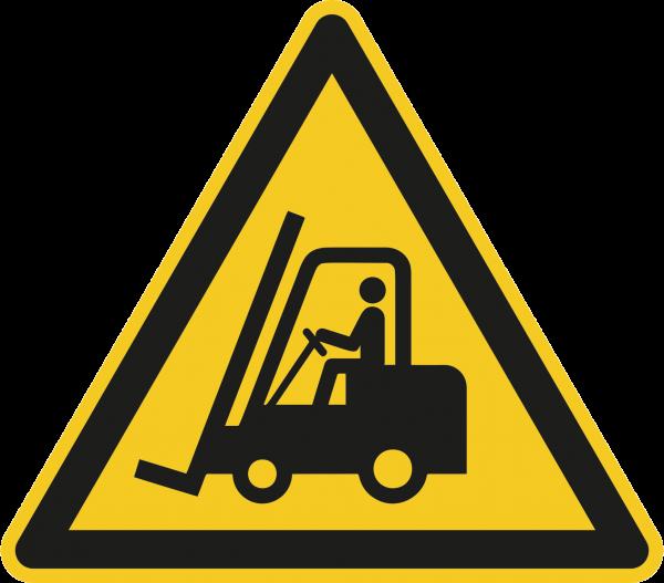 """Warnzeichen """"Warnung vor Flurförderzeugen"""" - W014"""
