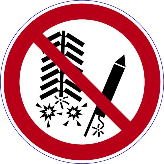 ISO 7010 - P040 - Feuerwerk zünden verboten