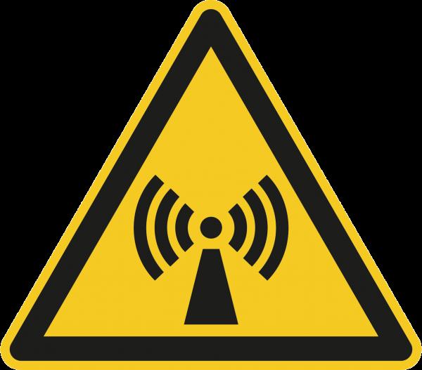 """Warnzeichen """"Warnung vor nicht ionisierender Strahlung"""" - W005"""