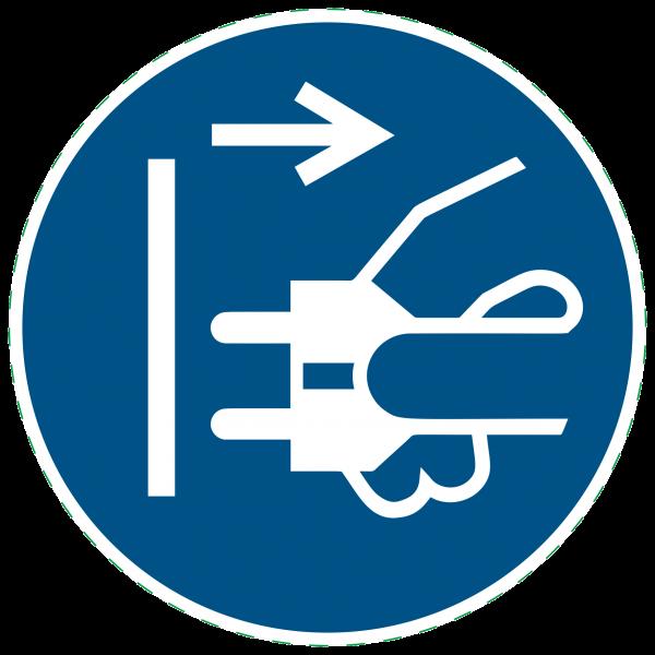 ISO 7010 - M006 - Gebotszeichen - Netzstecker ziehen