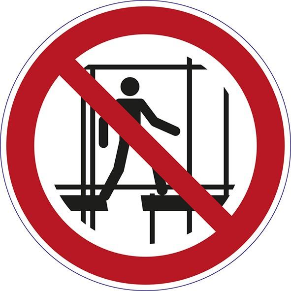 ISO 7010 - P025 - Benutzung des unvollständigen Gerüsts verboten