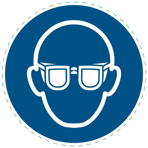 ISO 7010-M004 - Gebotszeichen - Augenschutz benutzen