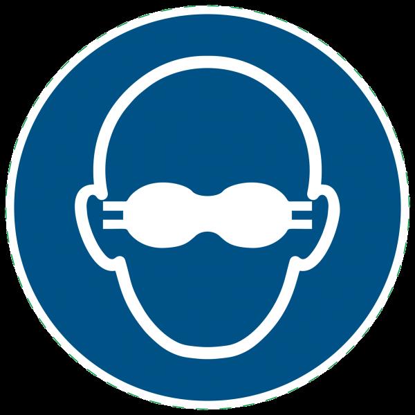 ISO 7010-M007 - Gebotszeichen - Weitgehend lichtundurchlässigen Augenschutz benutzen