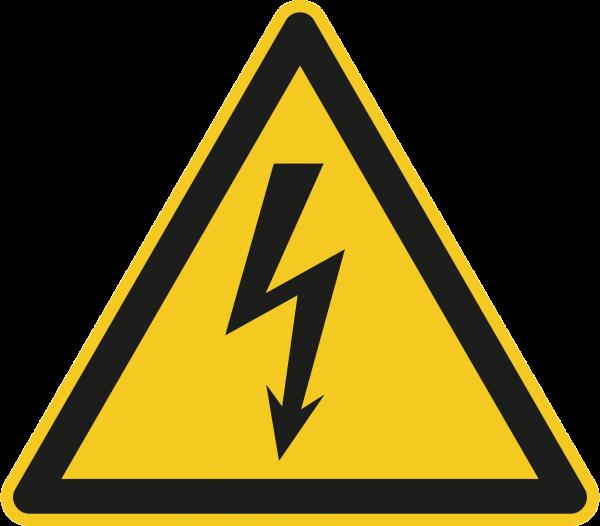 """Warnzeichen """"Warnung vor elektrischer Spannung """" W012"""
