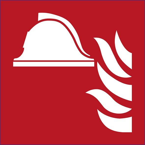 ISO 7010 - F004 - Mittel und Geräte zur Brandbekämpfung
