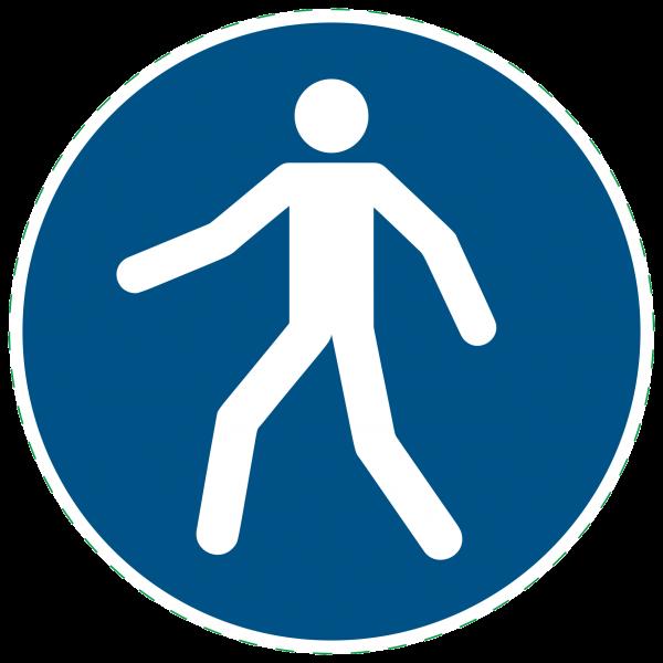 ISO 7010 - M024 - Fußgängerüberweg benutzen