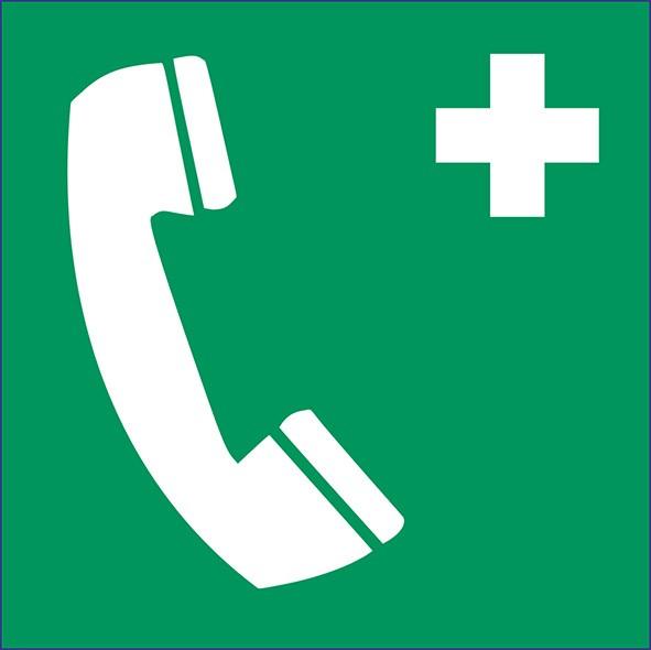 ISO 7010 - E004 - Notruftelefon