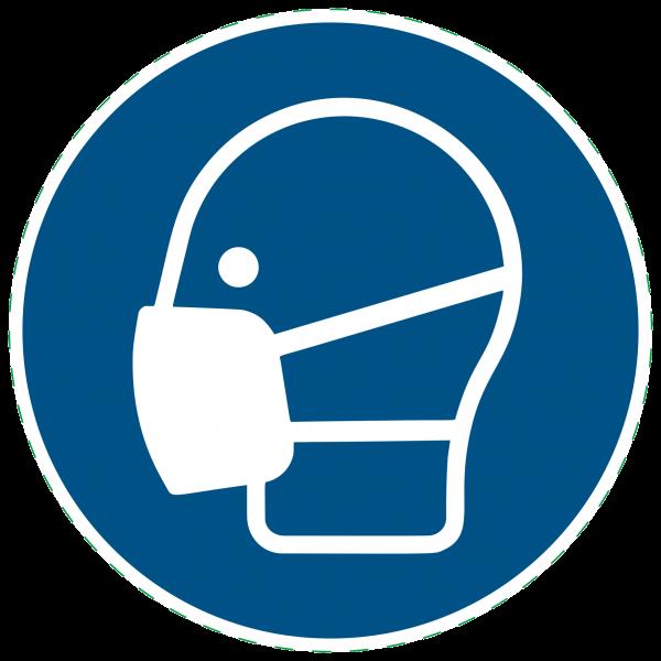 ISO 7010 - M016 - Maske benutzen