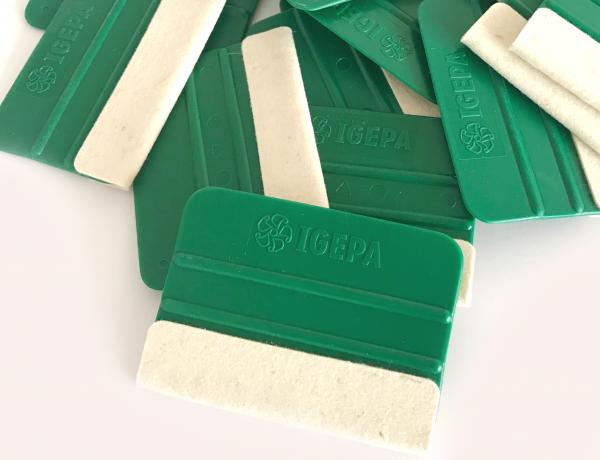 Igepa Rakel grün mit Filzkante