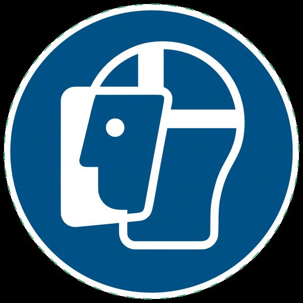 ISO 7010 - M013 - Gesichtsschutz benutzen