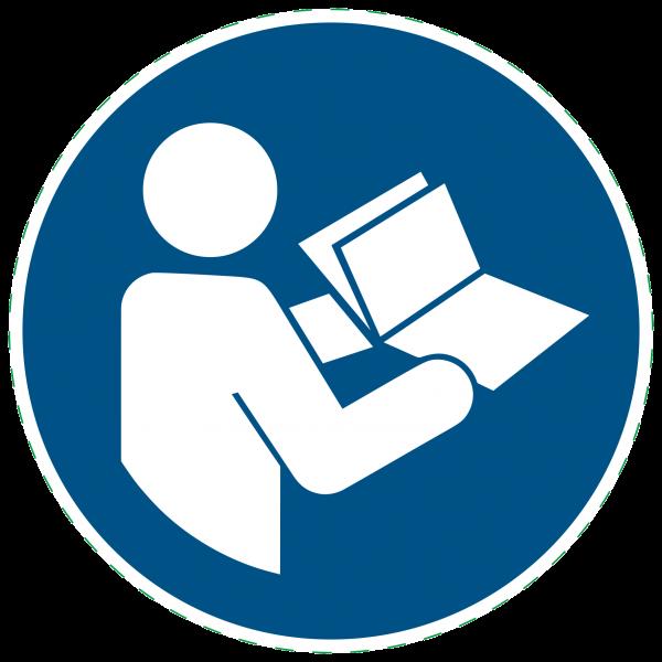 ISO 7010-M002 - Gebotszeichen - Anleitung beachten