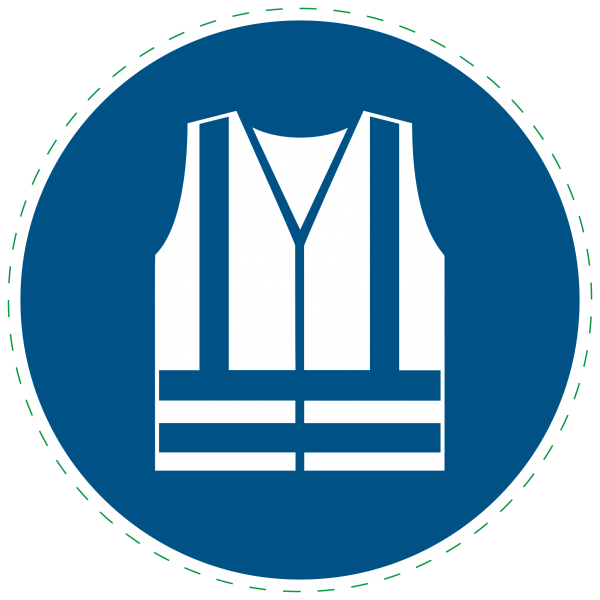 ISO 7010 - M015 - Warnweste benutzen
