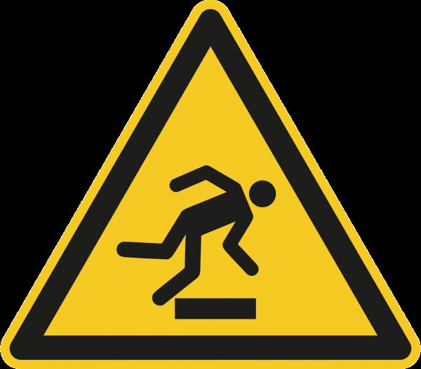 """Warnzeichen """"Warnung vor Hindernissen am Boden"""" - W007"""