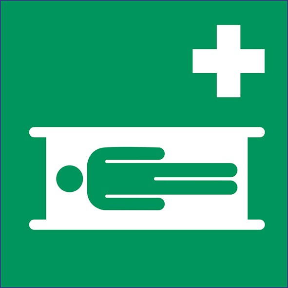ISO 7010 - E013 - Krankentrage