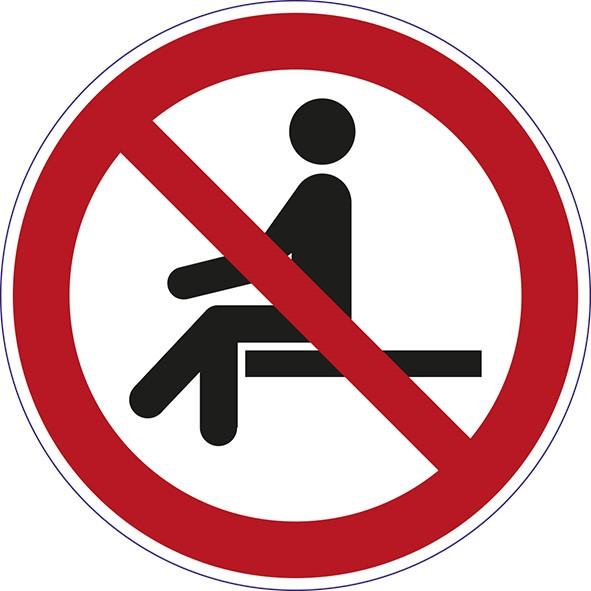 ISO 7010 - P018 - Sitzen verboten