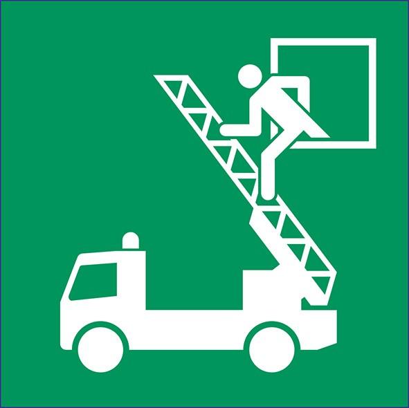 ISO 7010 - E017 - Rettungsausstieg