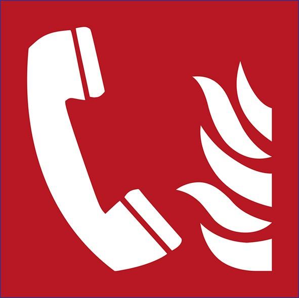 ISO 7010 - F006 - Feuermeldetelefon