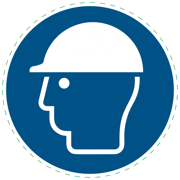 ISO 7010 - M014 - Kopfschutz benutzen