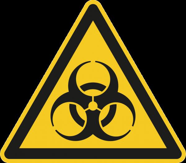 """Warnzeichen """"Warnung vor Biogefährdung"""" - W009"""