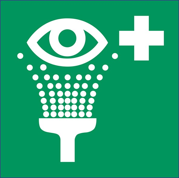 ISO 7010 - E011 - Augenspüleinrichtung