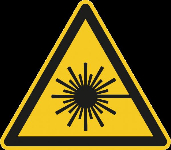 """Warnzeichen """"Warnung vor Laserstrahlen"""" - W004"""