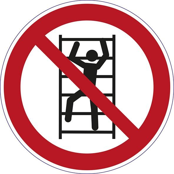 ISO 7010 - P009 - Aufsteigen verboten
