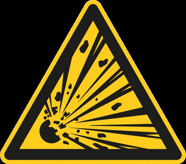 """Warnzeichen """"Warnung vor explosionsgefährlichen Stoffen"""" - W002"""
