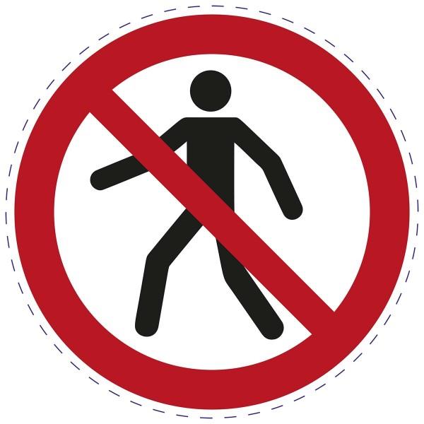 ISO 7010 - P004 - Für Fußgänger verboten