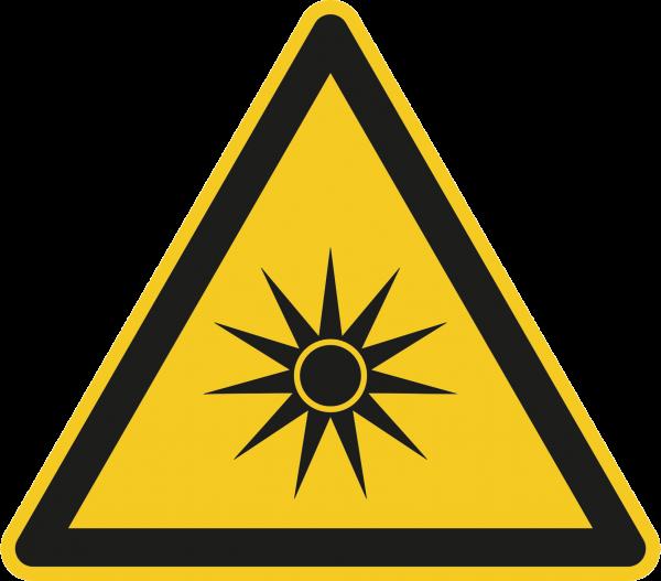 """Warnzeichen """"Warnung vor optischer Strahlung"""" W027"""