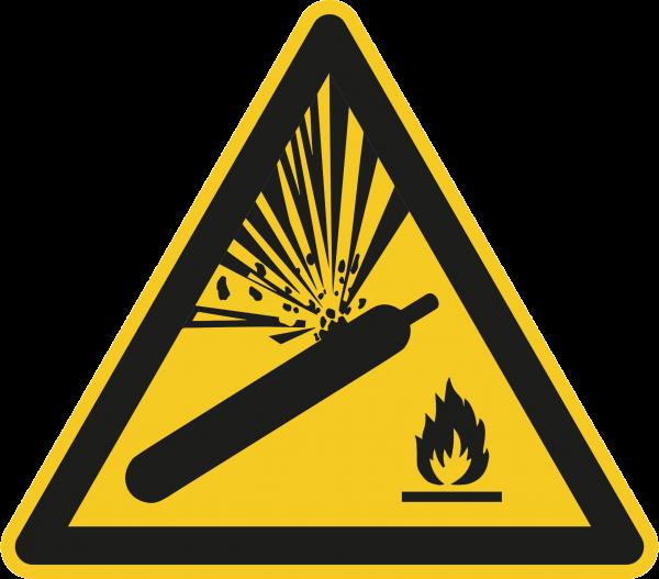 """Warnzeichen """"Warnung vor Gasflaschen"""" W029"""