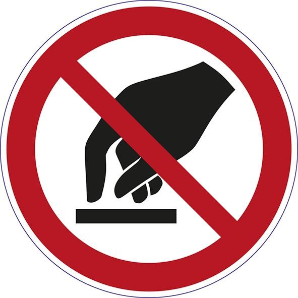 ISO 7010 - P010 - Berühren verboten