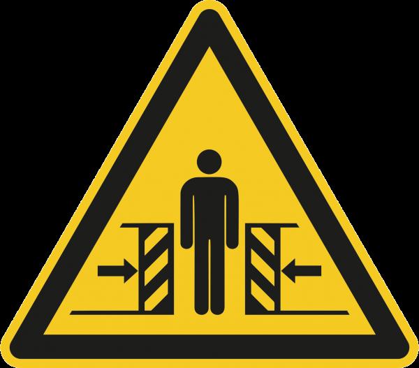 """Warnzeichen """"Warnung vor Quetschgefahr """" W019"""
