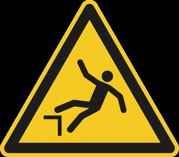 """Warnzeichen """"Warnung vor Absturzgefahr"""" - W008"""