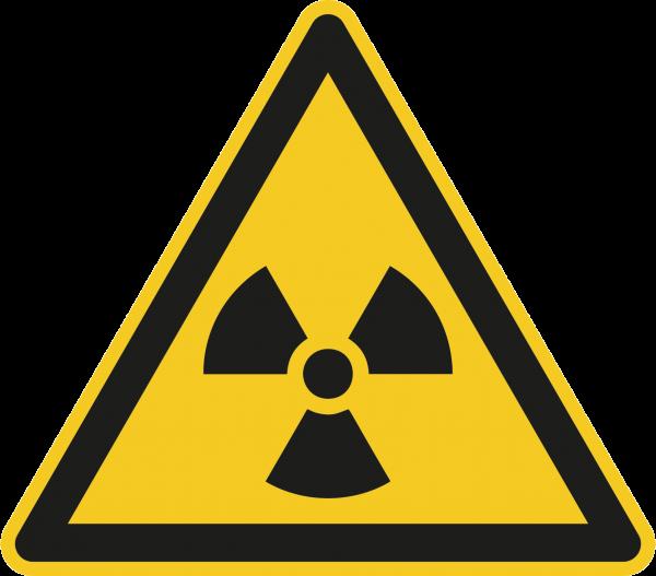 """Warnzeichen """"Warnung vor radioaktiven Stoffen oder ionisierender Strahlung"""" - W003"""
