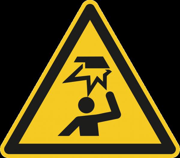 """Warnzeichen """"Warnung vor Hindernissen im Kopfbereich"""" W020"""