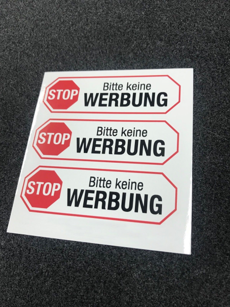 """Briefkastenaufkleber """"Bitte keine Werbung"""""""