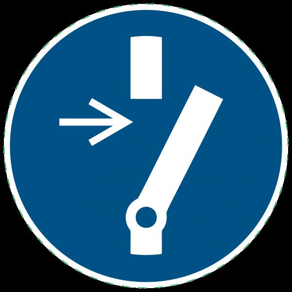 ISO 7010 - M021 - Vor Wartung oder Reparatur freischalten