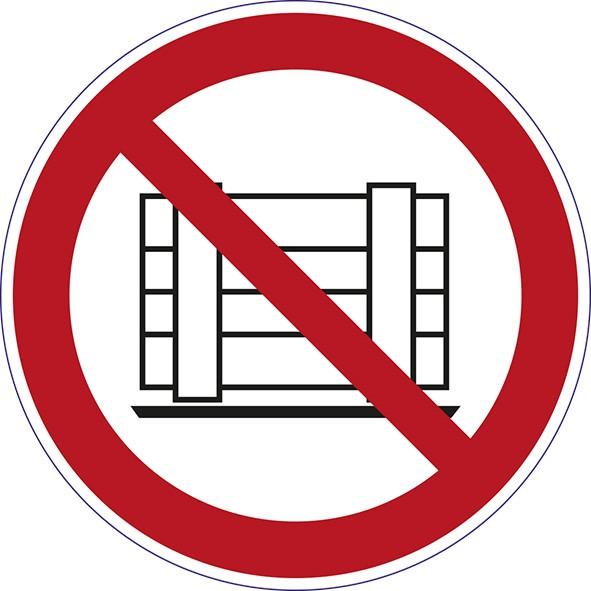 ISO 7010 - P023 - Abstellen und Lagern verboten
