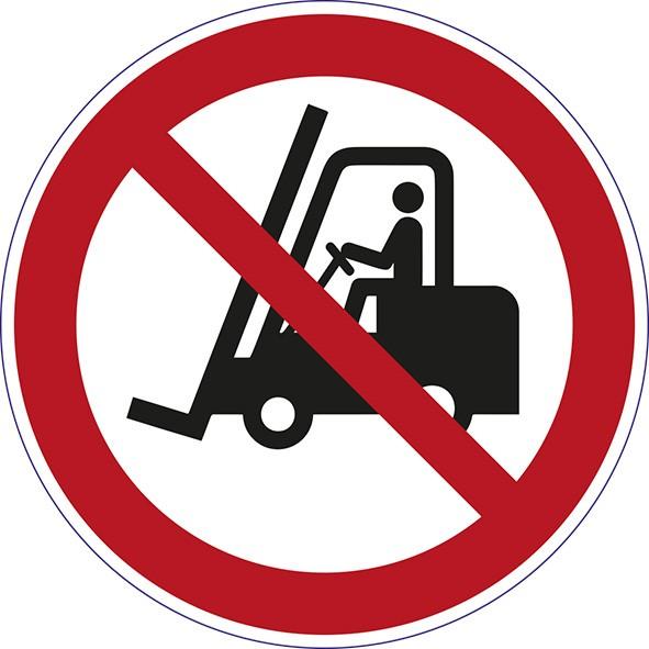 ISO 7010 - P006 - für Flurfahrzeuge verboten