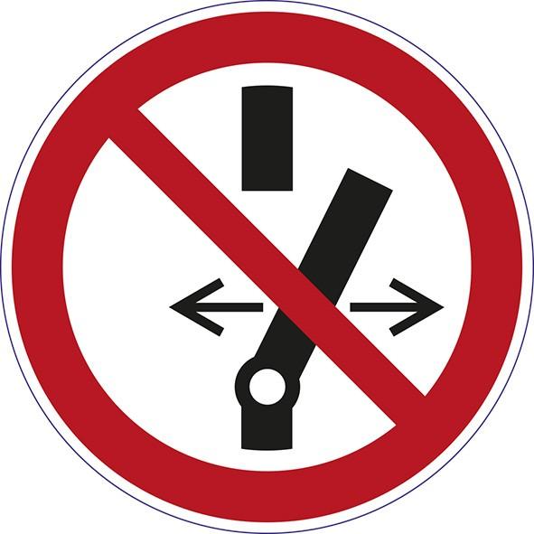 ISO 7010 - P031 - Schalten verboten