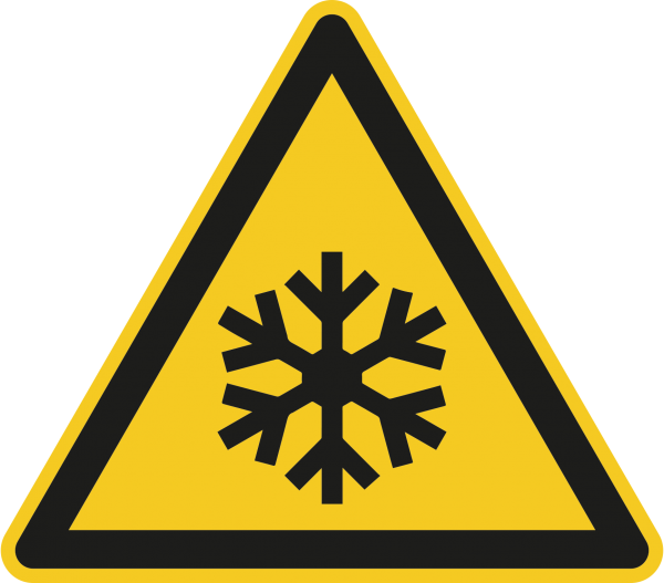 """Warnzeichen """"Warnung vor niedriger Temperatur/Frost"""" - W010"""