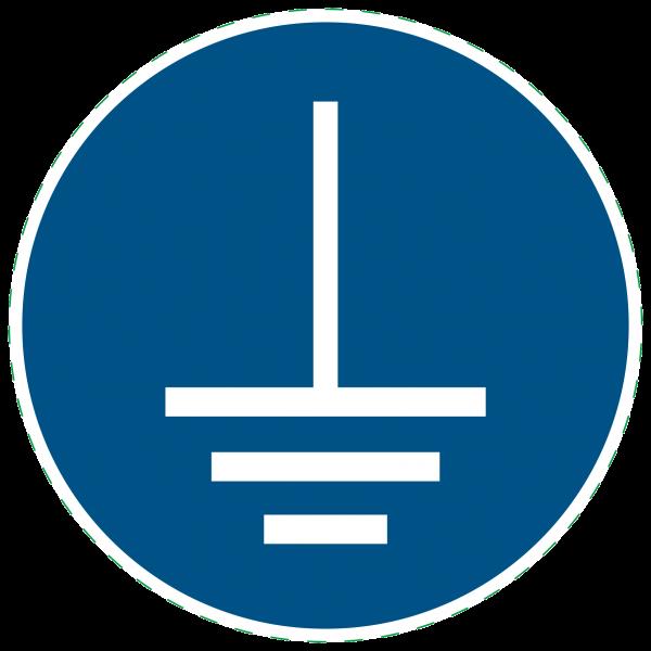 ISO 7010 - M005 - Gebotszeichen - Vor Benutzung erden