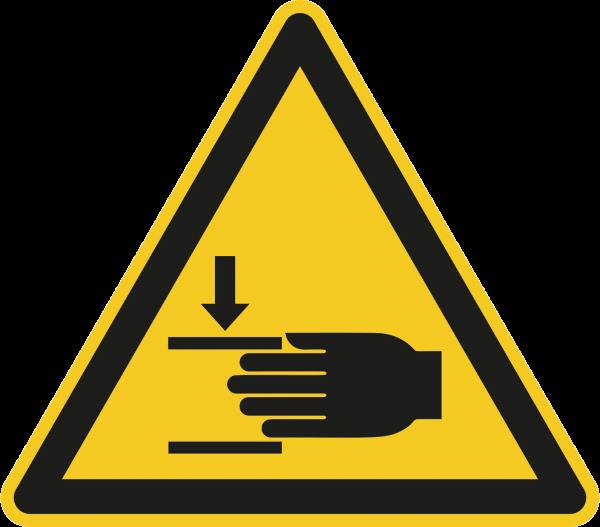 """Warnzeichen """"Warnung vor Handverletzungen"""" W024"""