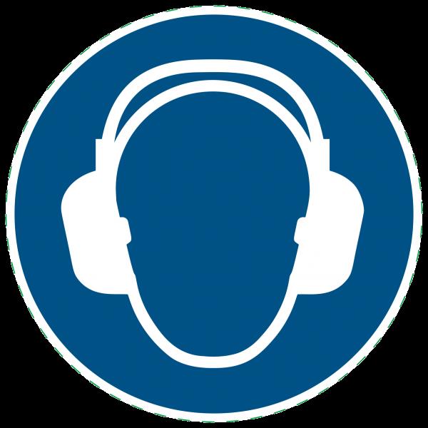 ISO 7010-M003 - Gebotszeichen - Gehörschutz benutzen