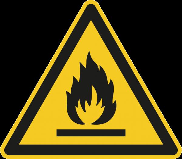 """Warnzeichen """"Warnung vor feuergefährlichen Stoffen"""" W021"""