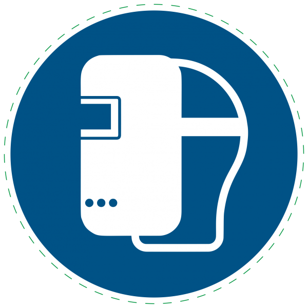 ISO 7010 - M019 - Schweißmaske benutzen