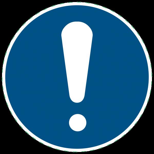 ISO 7010-M001 - Allgemeines Gebotszeichen