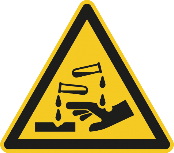 """Warnzeichen """"Warnung vor ätzenden Stoffen"""" W023"""