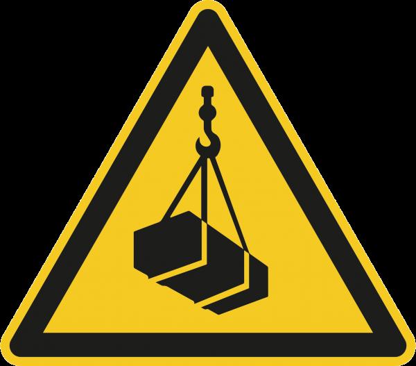 """Warnzeichen """"Warnung vor schwebender Last"""" - W015"""