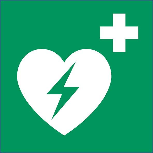 ISO 7010 - E010 - Automatisierter externer Defibrilator